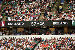A general view of the final score - Mandatory byline: Patrick Khachfe/JMP - 07966 386802 - 24/08/2019 - RUGBY UNION - Twickenham Stadium - London, England - England v Ireland - Quilter International