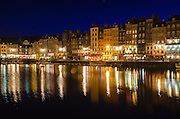 Honfleur harbor at night, Normandy, France