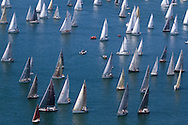 Pictures of the 2014 J.P Morgan Round The Island Yacht Race. Solent. UK<br /> Free for editorial use . Please Credit: Lloyd Images