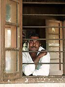 Train station manager in Alawwa, Sri Lanka