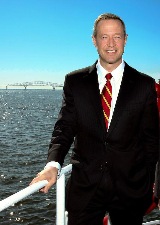 Maryland Governor Martin O'Malley at Dundalk Marine Terminal, Port of Baltimore