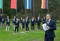 HILVERSUM - Jeroen Stevens (NGF) ) Prizewinning ceremony.    ELTK Golf 2020 The Dutch Golf Federation (NGF), The European Golf Federation (EGA) and the Hilversumsche Golf Club will organize Team European Championships for men.  COPYRIGHT KOEN SUYK