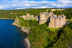 Aerial view of Culzean Castle in Ayrshire, Scotland, UK