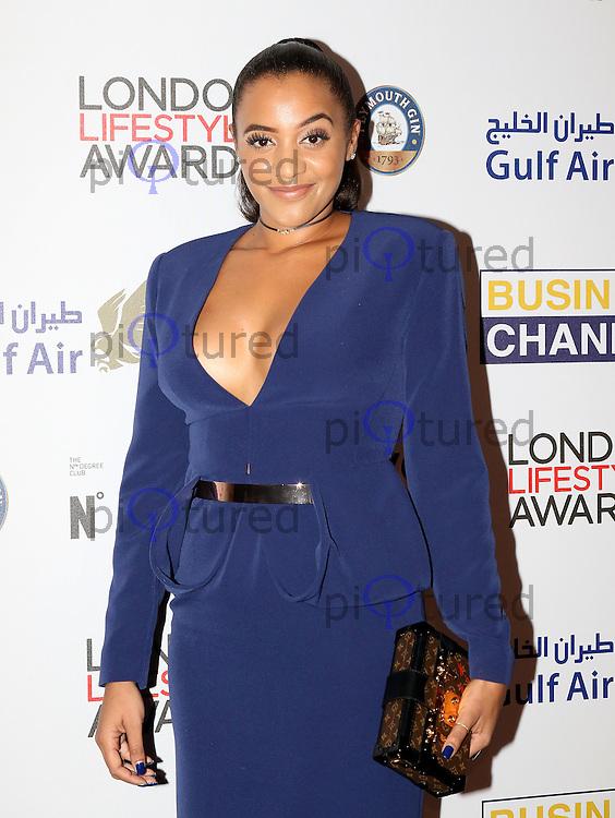 Amal Fashanu, London Lifestyle Awards, Lancaster London Hotel UK, 03 October 2016, Photo by Richard Goldschmidt