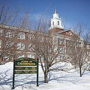 Hamden High School,  Hamden, Connecticut, USA. 20th February 2014. Photo Tim Clayton
