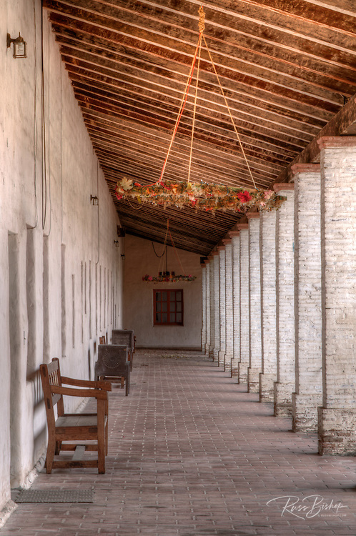 Corridor, Mission San Antonio de Padua, Jolon, California USA