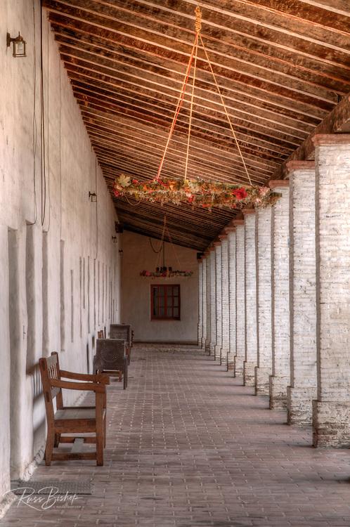 Corridor, Mission San Antonio de Padua, Jolon, California USA