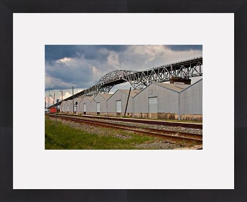 I-10 Bridge at Lake Charles,Louisiana (Framed Fine Art Print)