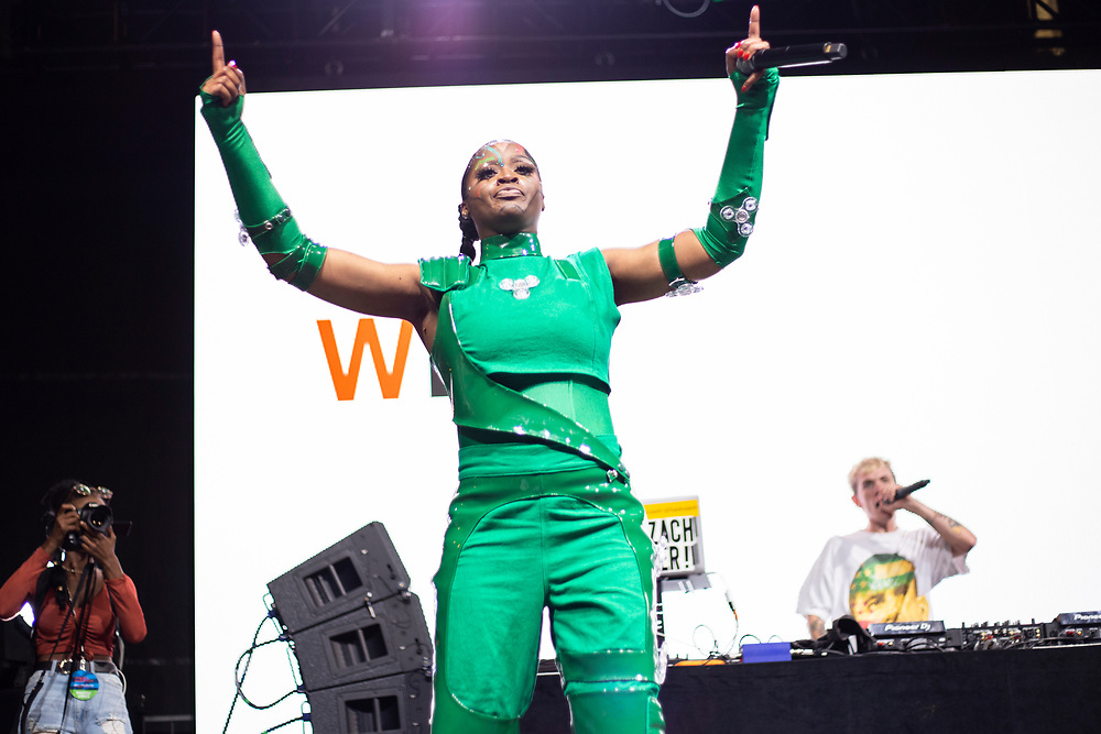Tierra Whack performing at the Made In America Festival in Philadelphia, PA on September 1, 2019.