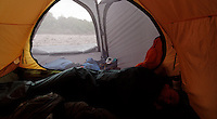 View from Helsport Gimle 4 tent