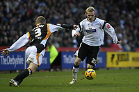 Photo: Pete Lorence.<br />Derby County v Hull City. Coca Cola Championship. 10/02/2007.<br />Gary Teale charges down the wing.