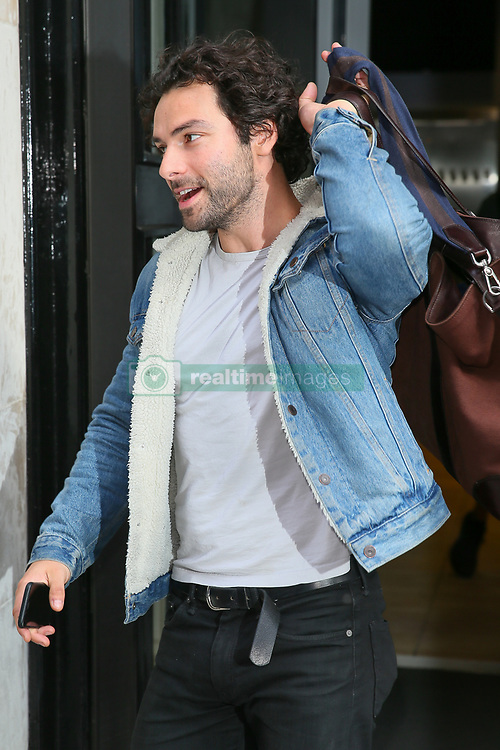 Aidan Turner leaving BBC Radio Two Studios after promoting the new series of Poldark and his new West End play - London. 15 Jun 2018 Pictured: Aidan Turner. Photo credit: mega TheMegaAgency.com +1 888 505 6342