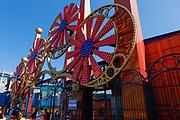 The elaborate main entrance to Coney Island's Luna Park on Surf Avenue.