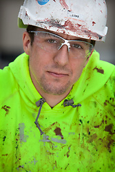Olympic Park portrait. Portrait of installation roofer Luke Shimmins in the Olympic Village. Picture taken on 24 Mar 10 by David Poultney.