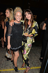 Left to right, JAIME WINSTONE and BRIGITTA SPINOCCHIA FREUND at a party to celebrate the opening of the jeweller Ara Vartanian's Flagship Store 44 Bruton Place, London on 7th September 2016.