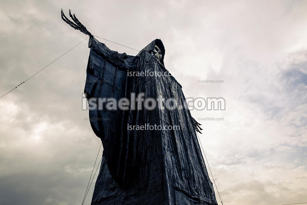 01 de noviembre de 2018. Tultitlán, Estado de México. Figura monumental de la Santa Muerte. / A monumental figure of Our Lady of the  Holy Death