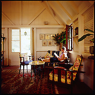 a quiet moment in the lounge at The Hermitage Plantation Inn, Nevis