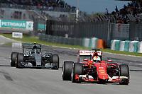 VETTEL sebastian (ger) ferrari sf15t action<br /> ROSBERG nico (ger) mercedes gp mgp w06 action during 2015 Formula 1 FIA world championship, Malaysia Grand Prix, at Sepang from March 27th to 30th. Photo Eric Vargiolu / DPPI