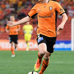 BRISBANE, AUSTRALIA - DECEMBER 22: Corey Brown of the Roar dribbles the ball during the round 4 Foxtel National Youth League match between the Brisbane Roar and Melbourne City at AJ Kelly Field on December 22, 2016 in Brisbane, Australia. (Photo by Patrick Kearney/Brisbane Roar)