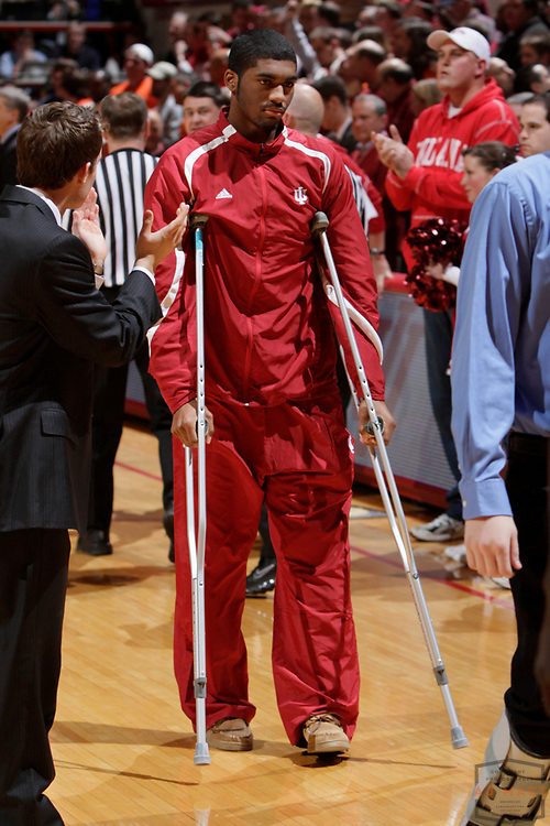 09 January 2010: Indiana guard Maurice Creek (3) as the Indiana Hoosiers played the Illinois Illini in a college basketball game in Bloomington, Ind.