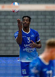 Jerome Cross of Lycurgus in action during the cup final between Amysoft Lycurgus vs. Draisma Dynamo on April 18, 2021 in sports hall Alfa College in Groningen