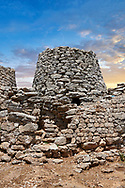 Picture and image of the prehistoric magalith ruins of the multi towered Nuraghe Serbissi, archaeological site, Bronze age (14 - 10 th century BC). Nuraghe Serbissi is situated at over 900 meters on a remote limestone plateau in central Sardinia.  Osini in Ogliastra, Southern Sardinia. .<br /> <br /> If you prefer you can also buy from our ALAMY PHOTO LIBRARY  Collection visit : https://www.alamy.com/portfolio/paul-williams-funkystock/nuraghe-serbissi-sardinia.html<br /> Visit our PREHISTORIC PLACES PHOTO COLLECTIONS for more   photos  to download or buy as prints https://funkystock.photoshelter.com/gallery-collection/Prehistoric-Neolithic-Sites-Art-Artefacts-Pictures-Photos/C0000tfxw63zrUT4