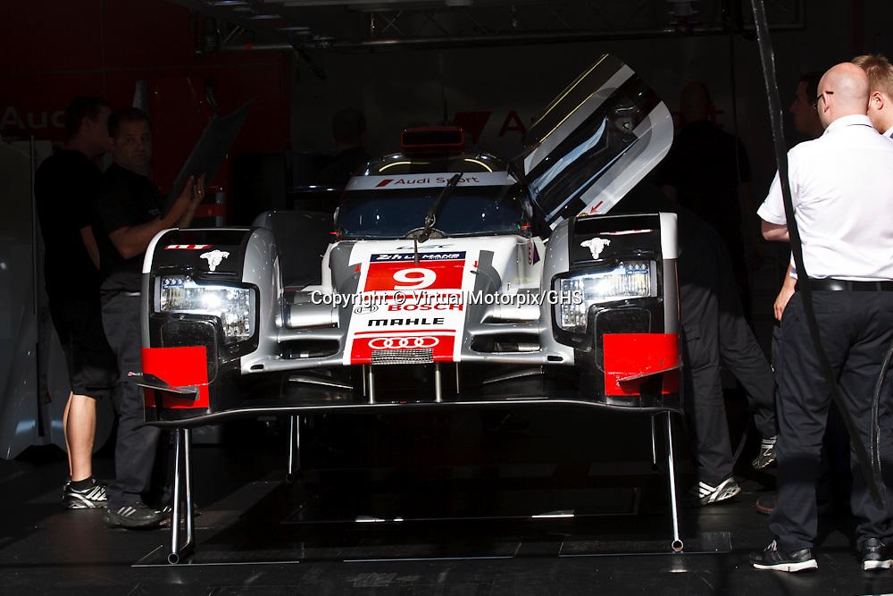 #9 Audi R18 e-tron quattro, Audi Sport Team Joest, Filipe Albuquerque, Mrco Bonanomi, Rene Rast at Le Mans 24H, 2015