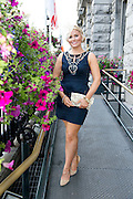 Niamh Francis, Castlegar, at the Hotel Meyrick Most Stylish Lady event on ladies day of The Galway Races. Photo:Andrew Downes