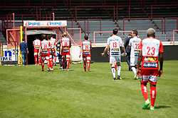 July 3, 2017 - Kortrijk, BELGIUM - Illustration picture shows players leaving the field after the 2017-2018 season photo shoot of Belgian first league soccer team KV Kortrijk, Monday 03 July 2017 in Kortrijk. BELGA PHOTO KURT DESPLENTER (Credit Image: © Kurt Desplenter/Belga via ZUMA Press)