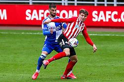 Charlie Wyke of Sunderland takes on Max Ehmer of Bristol Rovers - Mandatory by-line: Robbie Stephenson/JMP - 12/09/2020 - FOOTBALL - Stadium of Light - Sunderland, England - Sunderland v Bristol Rovers - Sky Bet League One
