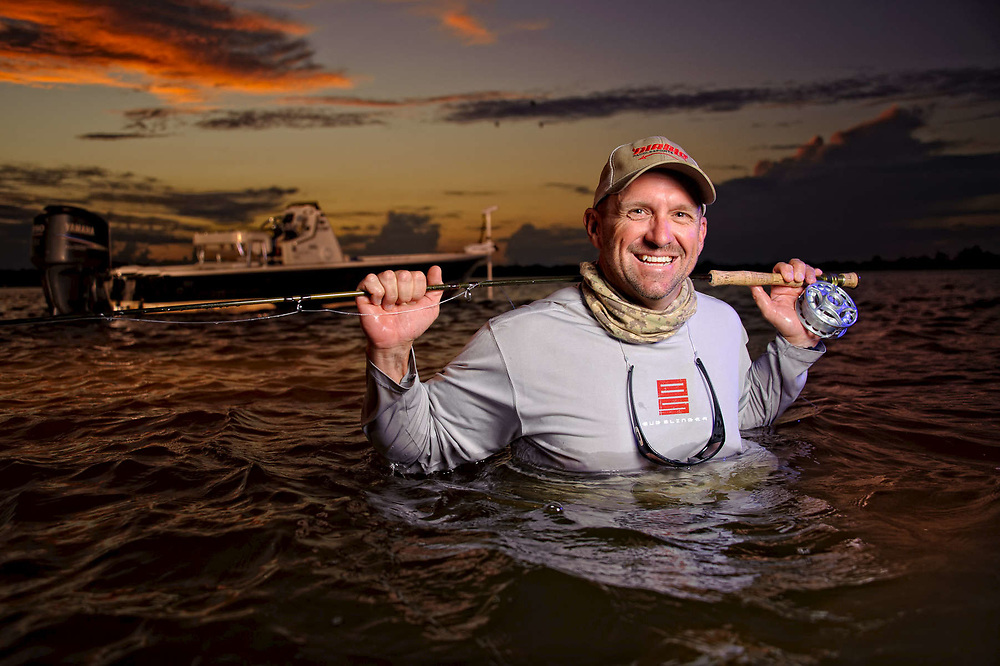 John Meskauskas environmental portrait in the St Lucie River Florida