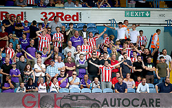 A general view of Stoke City fans in the stands during the Sky Bet Championship match at Elland Road, Leeds.