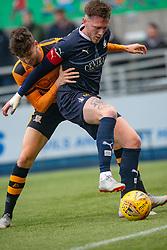 Alloa Athletic's Dario Zanatta and Falkirk's Jordan McGhee. Falkirk 1 v 2 Alloa Athletic, Scottish Championship game played 6/4/2019 at The Falkirk Stadium.