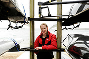 CENTERVILLE -- 042811 -- Barnstable High School senior Lauren Logan is the captain of the rowing team and plans to continue in the sport at Boston University. She and her team practice rowing at Wequaquet Lake.  Cape Cod Times/Christine Hochkeppel 042811ch03