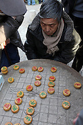 China, Beijing, xiangqi (Chinese Chess) players in a park