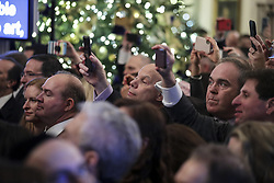 People attend a Hanukkah reception with President Donald Trump in the East Room of the White House on December 6, 2018 in Washington, DC. (Photo by Oliver Contreras/SIPA USA)