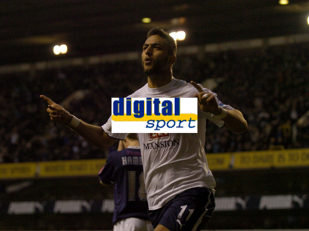Photo: Olly Greenwood.<br />Tottenham Hotspur v Southend United. The FA Cup. 27/01/2007. Spurs Mido celebrates scoring