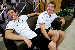 Goran and his brother Zoran Dragic during media day at training camp of Slovenian National Basketball team for Eurobasket Lithuania 2011, on July 19, 2011, in Arena Ljudski vrt, Ptuj, Slovenia.  (Photo by Vid Ponikvar / Sportida)