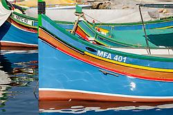 Fischerboote, Fishing Boats, Gozo, Malta, Sued Europa, Mittelmeer, Mare Mediterraneum, Sotuh Europe, Mediterranean Sea