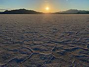 Bonneville Salt Flats at sunset, Utah, USA