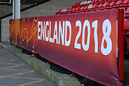 Uefa banner during the UEFA European Under 17 Championship 2018 match between England and Italy at the Banks's Stadium, Walsall, England on 7 May 2018. Picture by Mick Haynes.