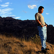 Notah Begay, pro golfer and the only Native American on the PGA Tour. Photographed near his New Mexico home for Sports Illustrated.