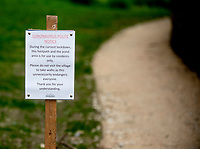 Coronavirus: polite notice for people that don't live in Stratton Audley to help stop the spread of  Coronavirus.