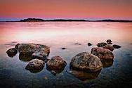 Rocks in the Farstanäs archipelago in Järna in the mid-east of Sweden.