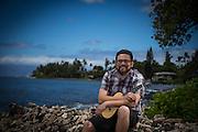 Portrait of Musician Garrett Probst by Seattle and Maui photographer Aric Becker