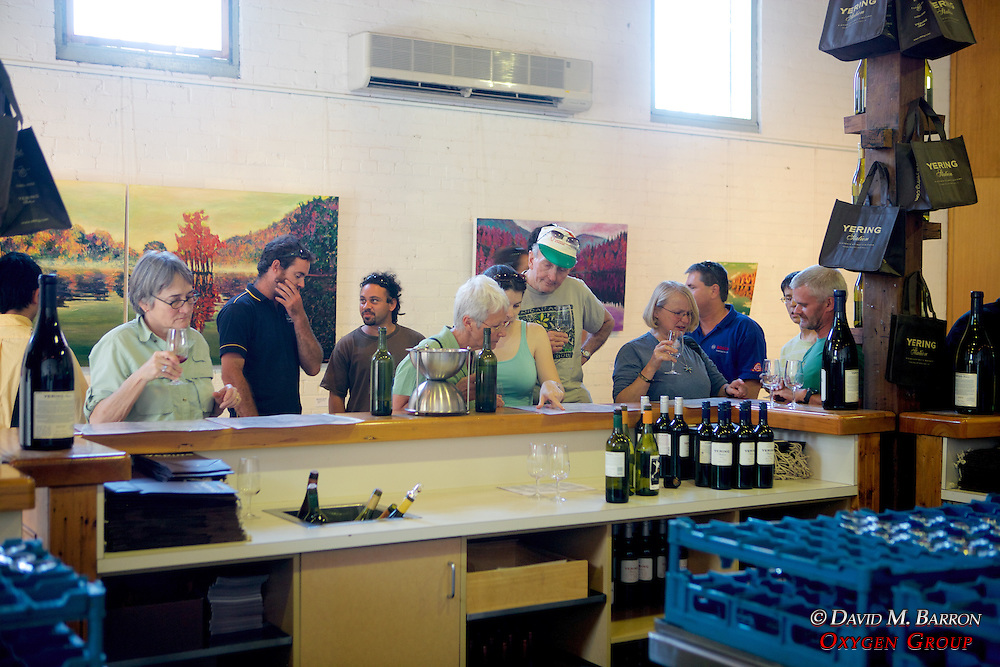 Earthwatch Team On Day Off At Yering Station Winery