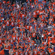 New York Mets fans in center field support their team during the New York Mets Vs Los Angeles Dodgers MLB regular season baseball game at Citi Field, Queens, New York. USA. 25th July 2015. Photo Tim Clayton