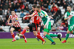 March 2, 2019 - Sunderland, England, United Kingdom - Sunderland's Will Grigg  contests for the ball during the Sky Bet League 1 match between Sunderland and Plymouth Argyle at the Stadium Of Light, Sunderland on Saturday 2nd March 2019. (Credit Image: © Mi News/NurPhoto via ZUMA Press)