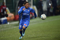 November 3, 2018 - Vercelli, Italy - Italian midfielder Luca Cattaneo from Novara Calcio team playing during Saturday evening's match against Pro Vercelli team valid for the 10th day of the Italian Lega Pro championship  (Credit Image: © Andrea Diodato/NurPhoto via ZUMA Press)