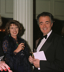 Centre & right, MRS PETER HAMBRO and MR PETER HAMBRO members of the banking family,  at a dinner in London on April 14th 1997.LXO 42